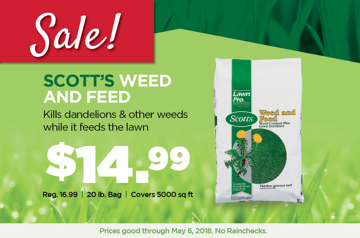 Sale - Scott's Weed and Feed