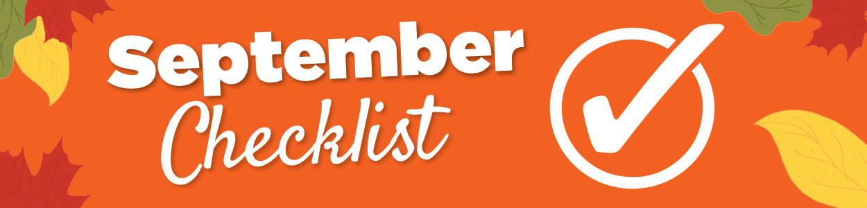 September Checklist