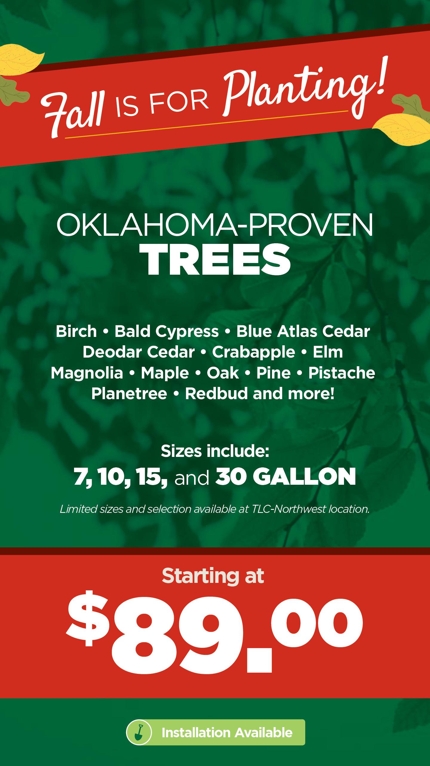 Oklahoma Proven Trees