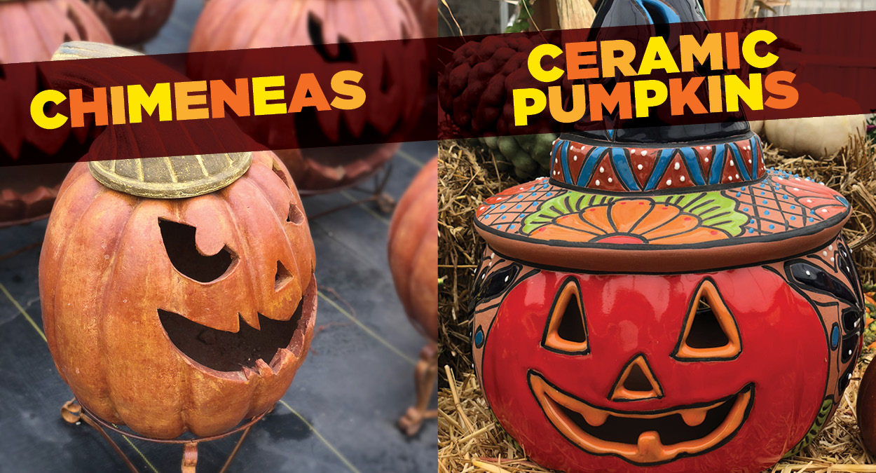 Chimeneas Ceramic Pumpkins