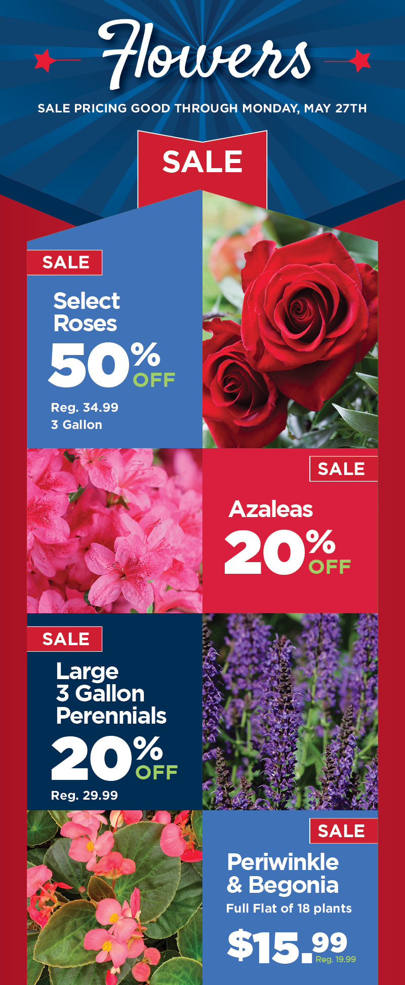 Memorial Day Sale - Flowers - Mobile