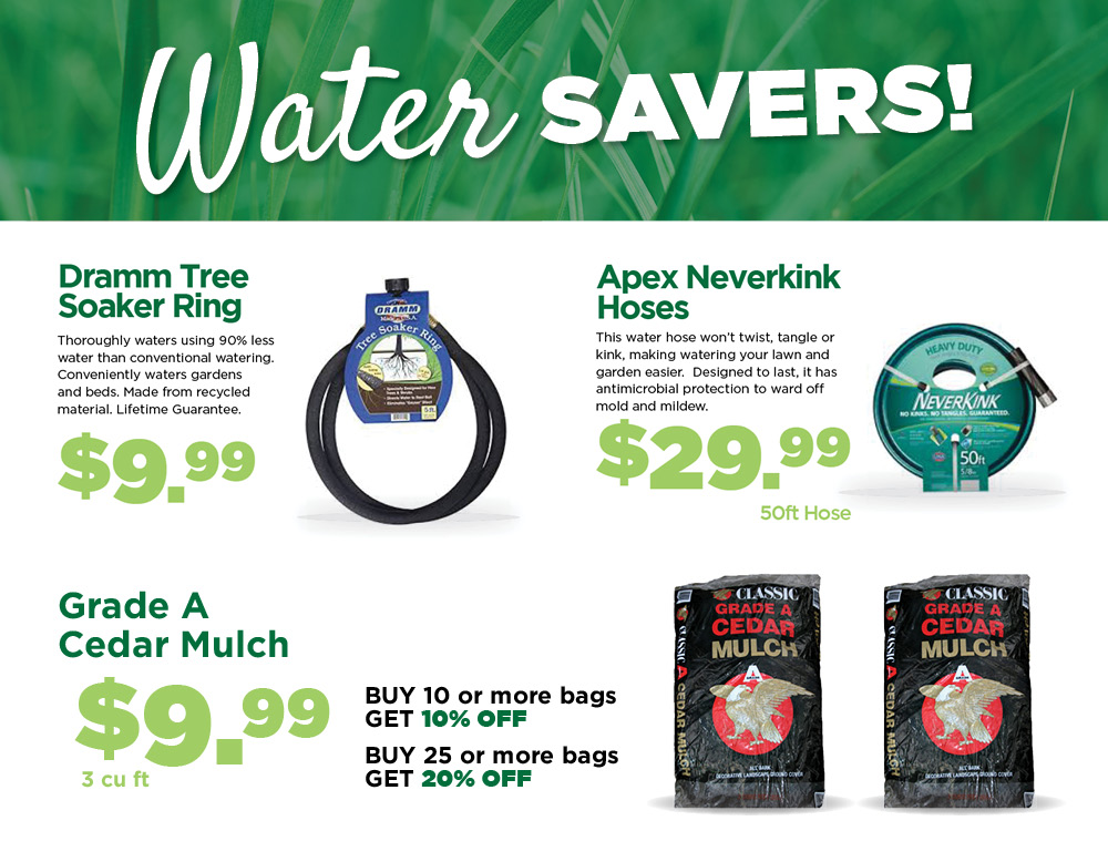 Water Savers | TLC Garden Centers