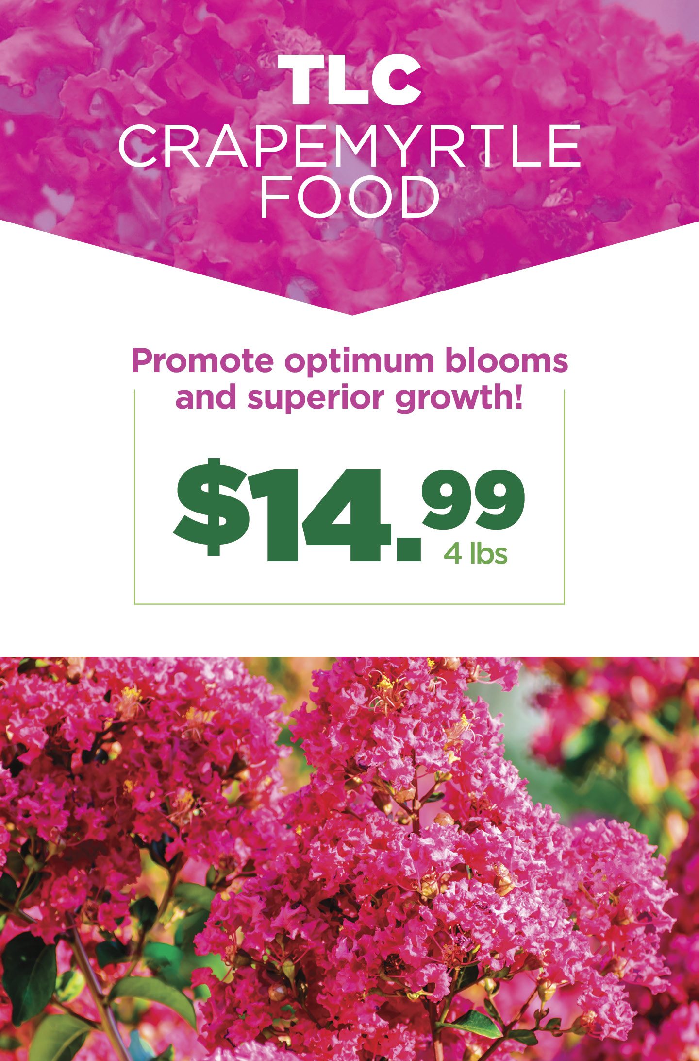 Crapemyrtle Food | TLC Garden Centers