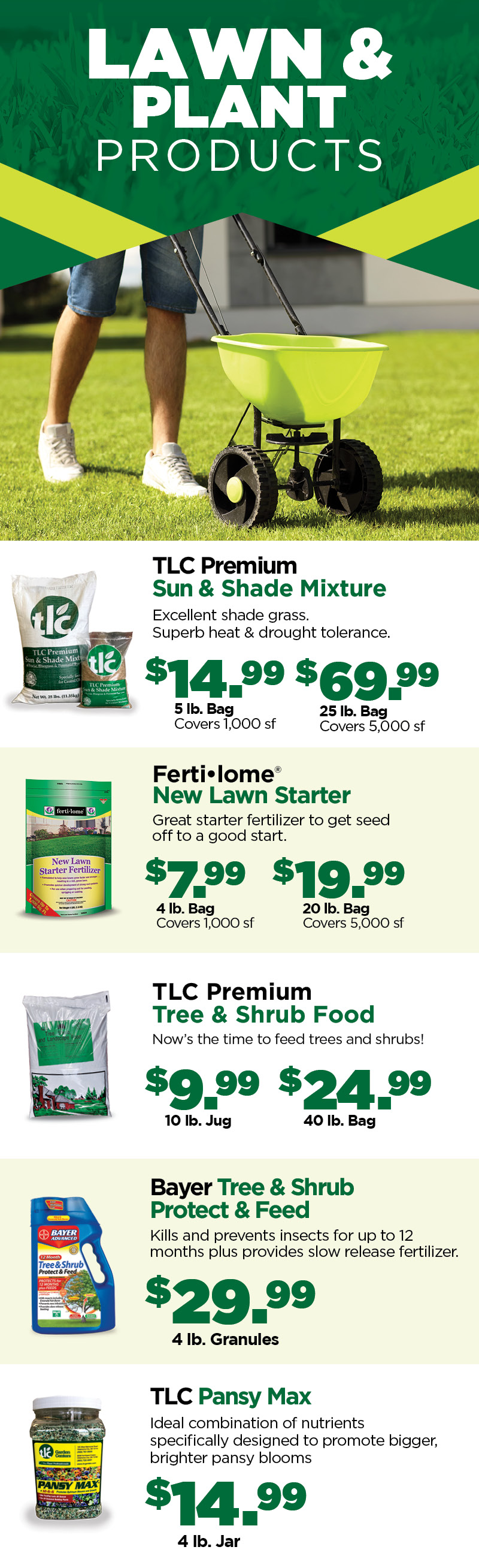 Lawn & Plant Products | TLC Garden Centers