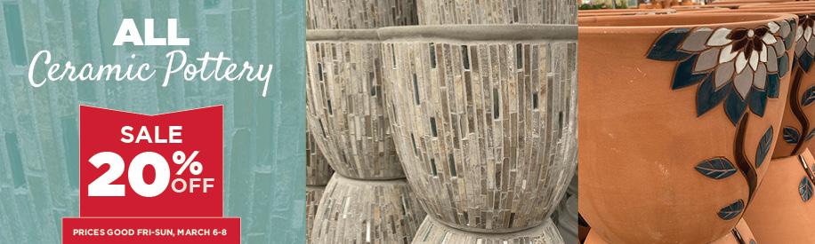 Pottery Sale | TLC Garden Centers