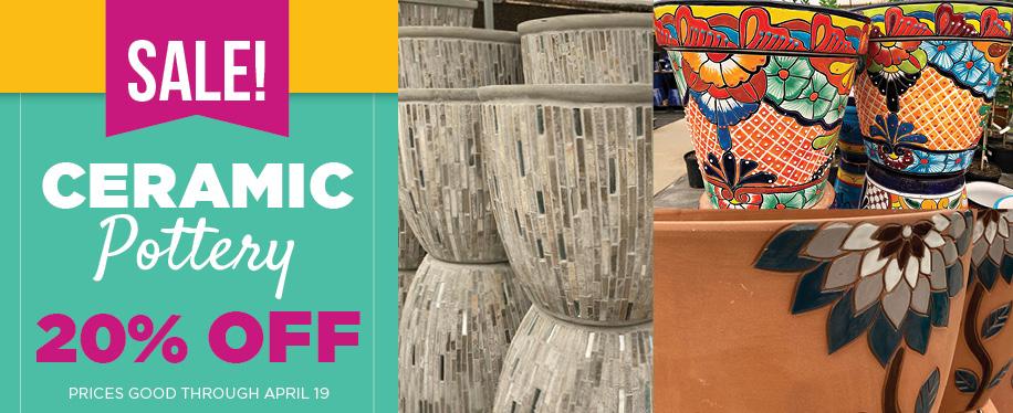 Ceramic Pottery Sale | TLC Garden Centers
