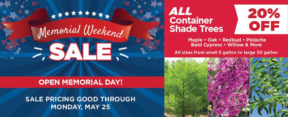 Memorial Weekend Sale | TLC Garden Centers