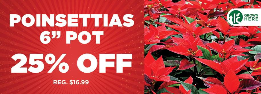 Poinsettia Sale | TLC Garden Centers